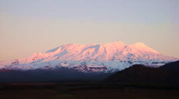 Mount Ruapehu in Winter (view from Schnapps) Ruapehu has two ski areas, Turoa and Whakapapa, making it the largest snow resort in New Zealand